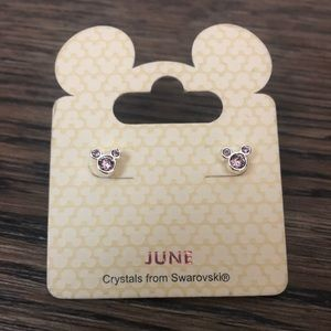 Mickey Mouse birthstone earrings from Swarovski